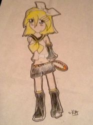 Sticker Art- Rin Kagamine  by DarkPrincess069