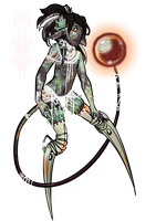 MYO Event: Lichen Necromancer Noxiie by TheMushroomancer