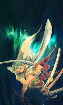 zoro x smudge by aztarial