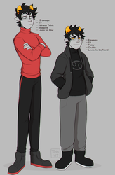Kankri and Karkat by TODD-NET