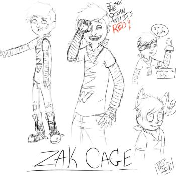 Zak Cage Doodles by shadowdriver3