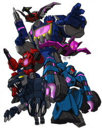 FoC Soundwave and his minions by KevinRaganit