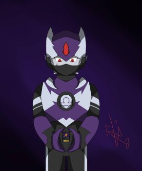 Omega.EXE with the Dark Chip  by FlameVmark