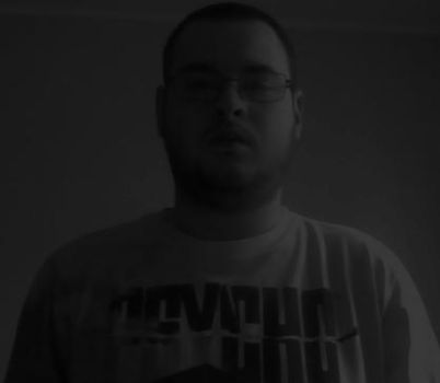 Me Wearing A Psycho Shirt (black and white) by Killenberg