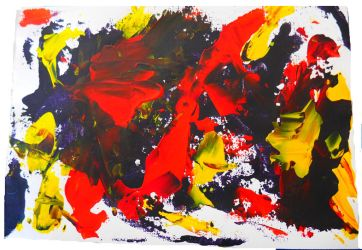 Abstrait Rouge by SandrineJacquesson