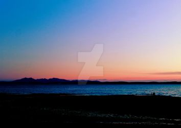Arran at Dusk by Crannogphotographic