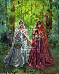 Snow White and Rose Red by LaurasMuse