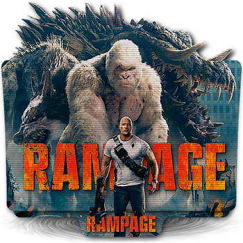 Rampage movie folder icon with TV scanline effect by zenoasis