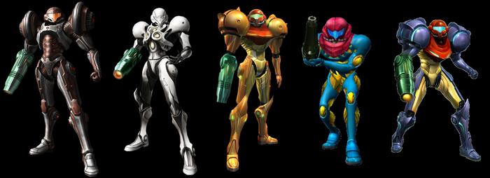 My Top 5 Favorite Metroid Power Suits by earthbouds