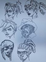 Overwatch faces by Ncid