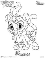 Sultan Princess Palace Pet Coloring Page SKGaleana by SKGaleana