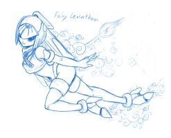 Levi with bubble by Yumion