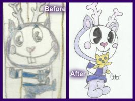 Before and after Mime by Ctlna0199