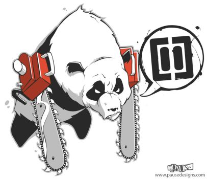 Chainsaw Panda by Pause-Designs