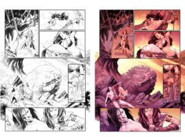 Red Sonja page3 by PaulRenaud