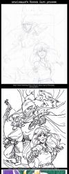 Sketch Card Process Example by OracleMaab