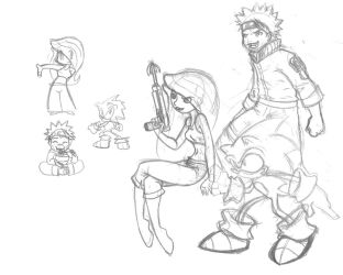 Sonic, Kim, and Naruto by Archer01