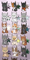 Leaders of Shadowclan by WoofyDragoncat68