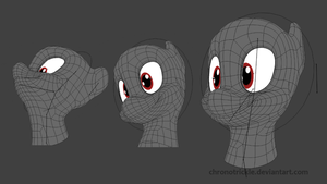 3D Pony Eye Rig and Facial Rig 01 by ChronoTrickle