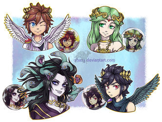 DizzyAlyx 218 12 KID ICARUS BUTTON BADGES For Sale By Shazy