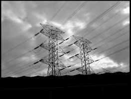 Cables in the sky by mortichro