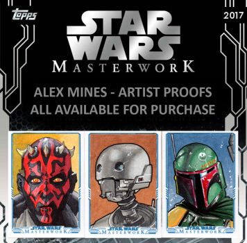 Star Wars Masterworks Sketch Cards by amines1974