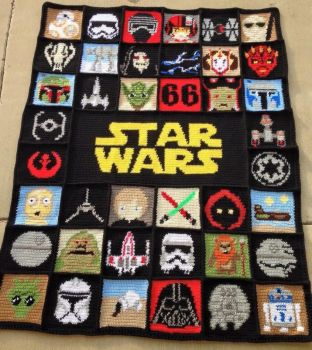 Star Wars Crochet Blanket, Afghan, Graphghan by JosephineRoeper