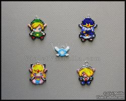 Bead charms - The Legend of Zelda by VioletValhalla