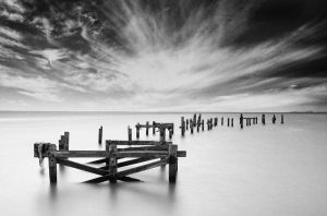 Old Swanage Pier by beeje25