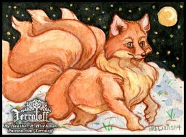 Kitsune Collection #8 Snow Romp by HeatherHitchman