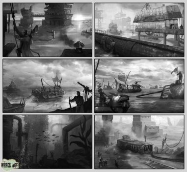 Wreck age and ShangriLA pieces selection 2 by blewzen