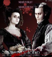 Sweeney todd and Mrs Lovett by camy2