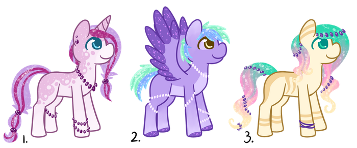 Pony adopts 3 OPEN by CatbunAdopts