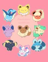 Eeveelution by zambicandy