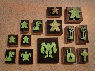 Stamps that I laser cut out of foam by JasonYoungdale