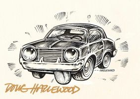 Clunker CAR Logo Illustration - Doug Hazlewood by DRHazlewood