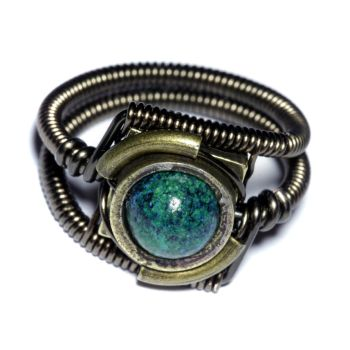 Steampunk Jewelry - Ring - Azurite by CatherinetteRings