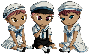 Triplet Sailor Babies by Icy-Snowflakes