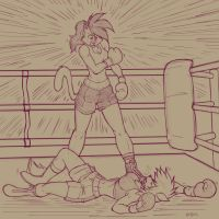 Deborah, the Brazilian Brawler. by Drawing-4Ever