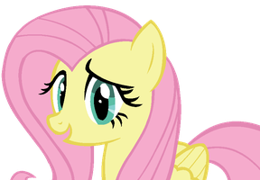 Fluttershy MS Paint Vector - Really? by C4TT