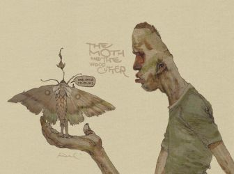 The Moth and the woodcutter by distritopapillon