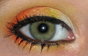 Gryffindor make up eye by Toxic-Sway
