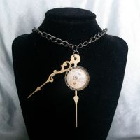 Dipping Clock steampunk neck I by smallrinilady
