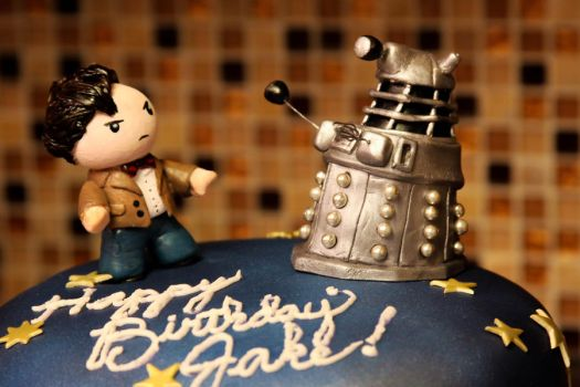 11th Doctor Cake Figure Detail by TubaQueen