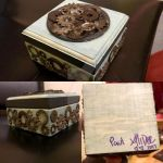 Gear/vintage aqua stained box by AliDee33