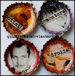 Fandom Bottle Cap Charms by quidditchmom