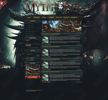 Mythic Lair ~ FusionCMS 6 (PSD) Template by InsDev