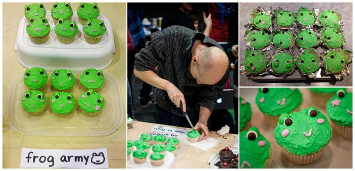 frog cupcakes by onifrogbox