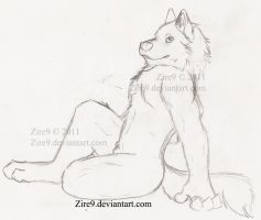 Siting pose - Sketch by Zire9