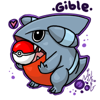 Pkmn: Gible by NikkiFirestarter
